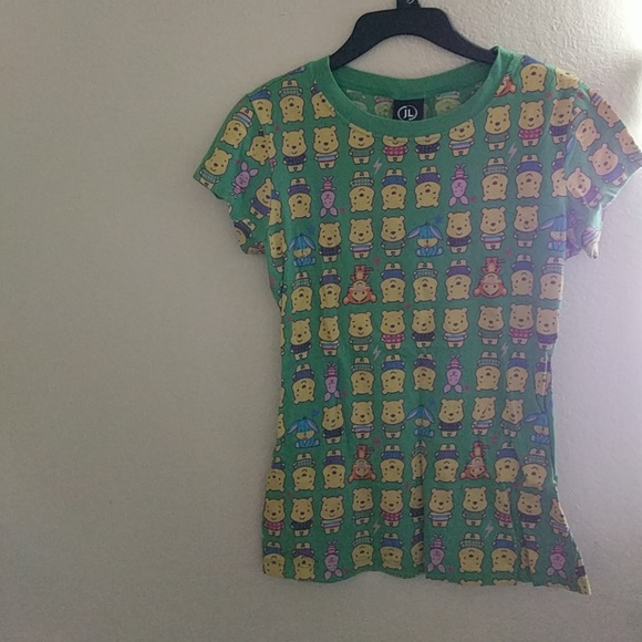Jerry Leigh Tops - Winnie the Pooh Graphic Tee Shirt, Green